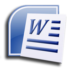 Word Icon with document